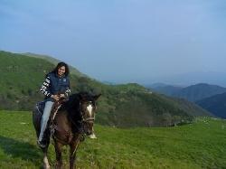 Horseback riding in Pascoso