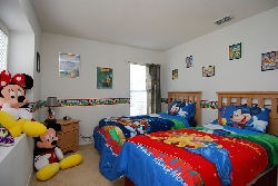 Disney room with twin beds