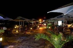 Beach bar at night ,Sunny Beach.