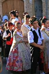 Tradition Spanish costume at fiesta time