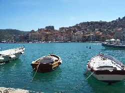 Sat at restaurant in Porto Santo Stefano