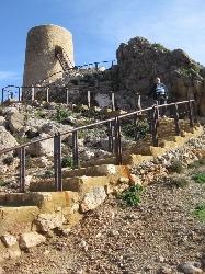 tower at far end of mojacar beach