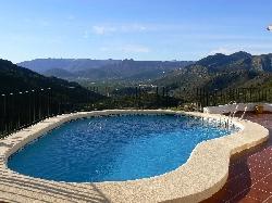 Sunlit pool from dawn till dusk