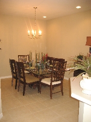 separate dining area - seats 6