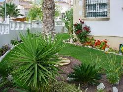 Beautiful gardens all around the villa