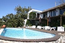 large sun terrace around the pool