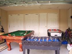 games room pool table air ice hockey