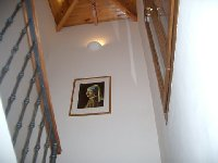 Vaulted ceiling to stairs