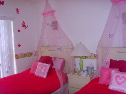 Themed butterfly room