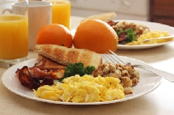 Enjoy a lovely american breakfast buffet