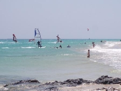 Wind & Kitesurfers on Playa La Barca