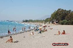 Our local beach is a short walk away