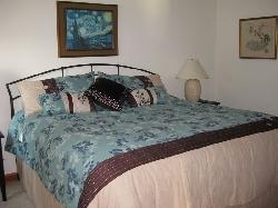 Peacock bedroom upstairs - king bed