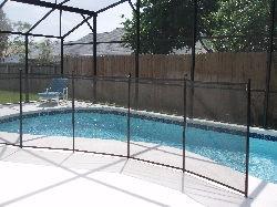 Pool safety guard - removable