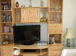 Wall unit & TV in lounge