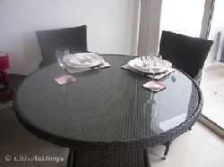 Dining table with comfortable chairs