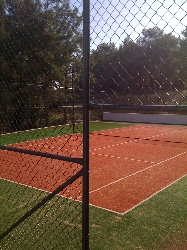 The onsite tennis court