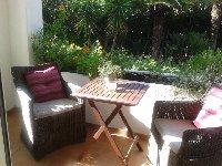 Mstr bedroom's terrace with garden view