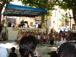 School concert on the village square