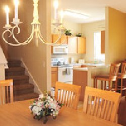 Spacious family dining area