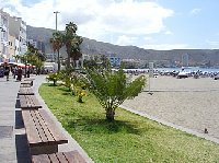 los cristianos town/harbour beach