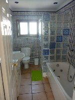 full shower room with jacuzzi bath