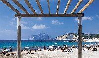 Ampolla beach in Moraira, 5 km away