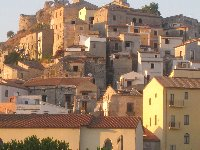 The beautiful historic town of Scalea