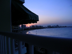 Sunset from our OCEANFRONT Balcony