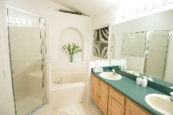 Master Bathroom with Bath Tub and Shower