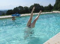 The pool gets the legs up