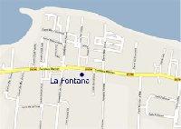 Location of La Fontana Apartments