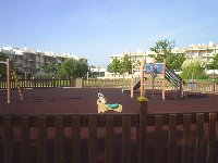 Newly refurbished childs play area