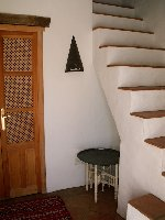 The entry hall and stairs