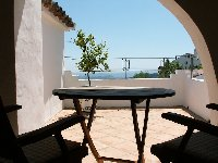 Sunny terrace with views to Africa