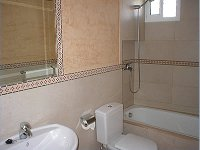 Main bathroom with bath & shower