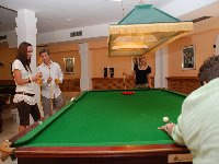 games room with full size snooker tables