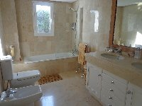 The main en-suite bathroom