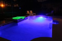Pool @ night with mood lighting
