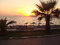 Sunset along Calis beach