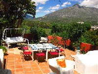 Dining terrace with fantastic views
