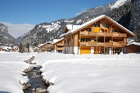 WInter view of chalet: only 6 apartments