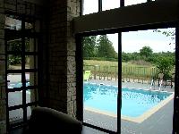 Sliding doors to the pool