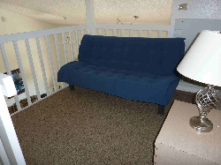 Futon on loft area