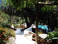 Path to pool & BBQ terraces