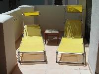 Sunbathe on the balcony