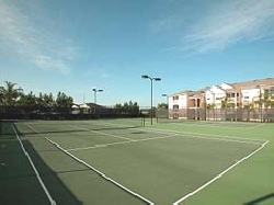 Tennis Courts, across the street