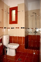 Shower and toilet facilities.