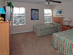 Sizeable twin bedroom with TV