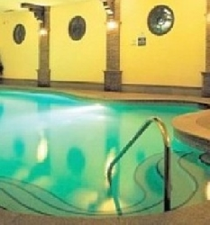 Heated indoor pool with spa & sauna